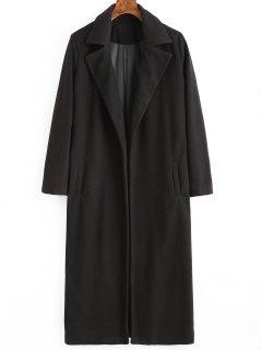 Manteau à Col Tailleur Avec Poches - Noir S