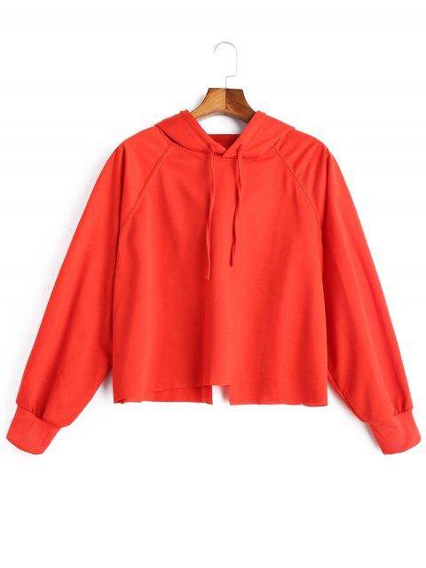 Sweat à capuche asymétrique surdimensionné - Tangerine Taille Unique Mobile