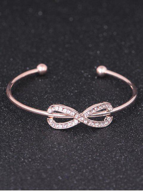fancy Rhinestoned Infinite Cuff Bracelet - ROSE GOLD  Mobile