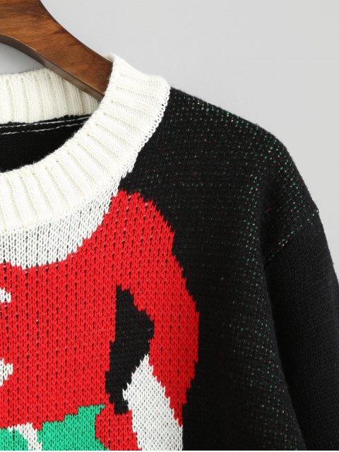 Grafischer Weihnachtspullover Pullover - Schwarz Eine Größe Mobile