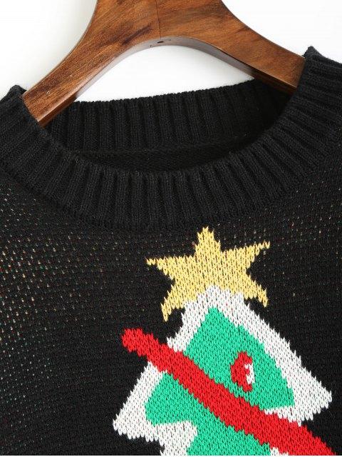 Pull à Motif D'arbre de Noël - Noir Taille Unique Mobile