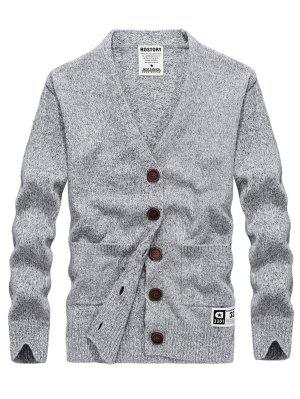 Two Pocket V Neck Cashmere Cardigan