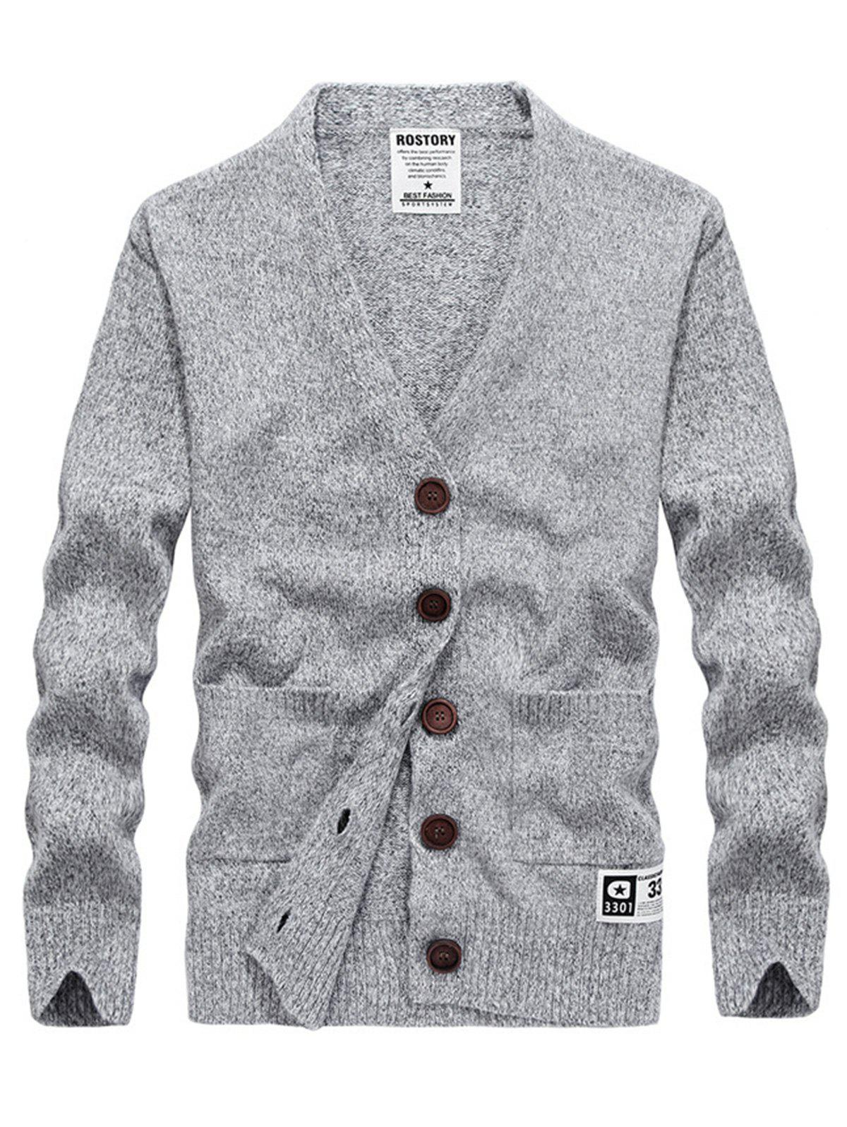 Two Pocket V Neck Cashmere Cardigan 235504806