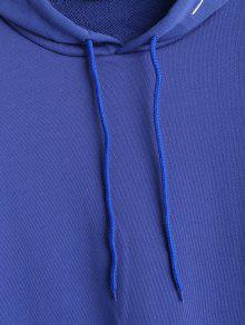 Bordada Con Azul Mano A Sudadera Capucha E8PwYqw6