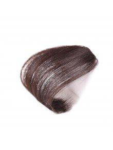 Cabelo Humano Curto Clip-in See-through Bang Hair Extension - Marrom Cscuro