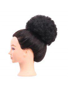قصير مجعد الاصطناعية شعر مستعار كعكة شعر مستعار - أسود