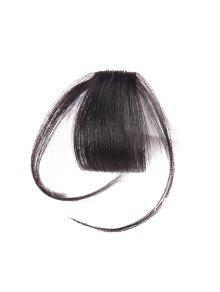 شعرة الإنسان قصيرة كليب في انظر من خلال الانفجار الشعر قطعة مع المعابد - أسود