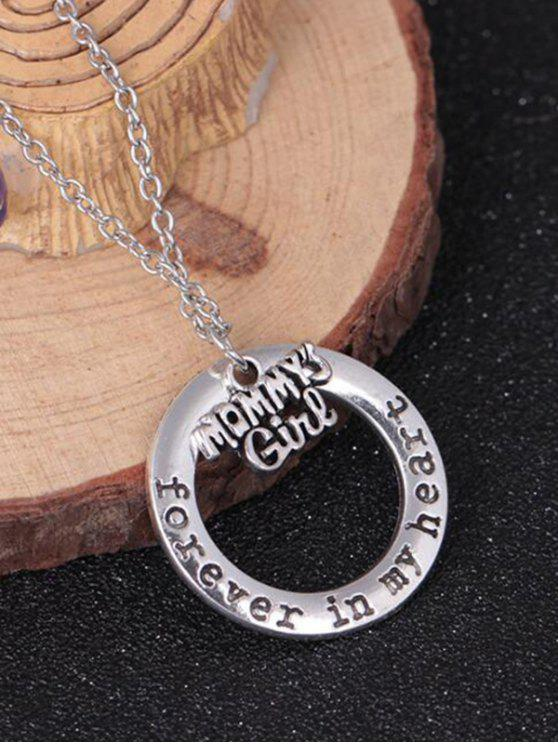Circle Engraved Family Forever In Heart Necklace Pattern G
