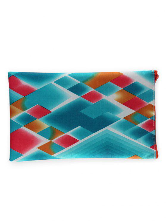 الملونة المعين نمط المحمولة السفر ماكياج حقيبة - ملون