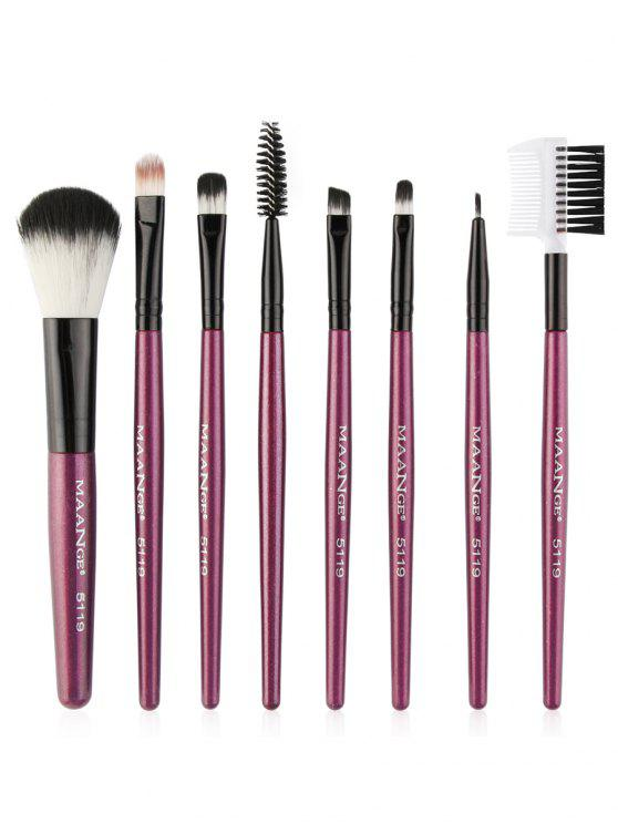 8Pcs Multifunctional Eye Makeup Brushes Set - Roxo