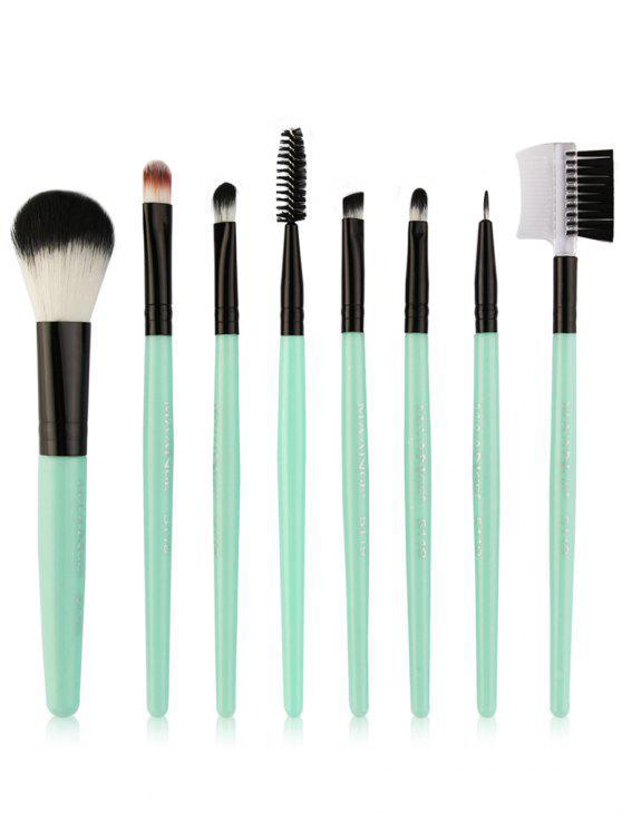 8Pcs Multifunctional Eye Makeup Brushes Set - Ciano e Preto