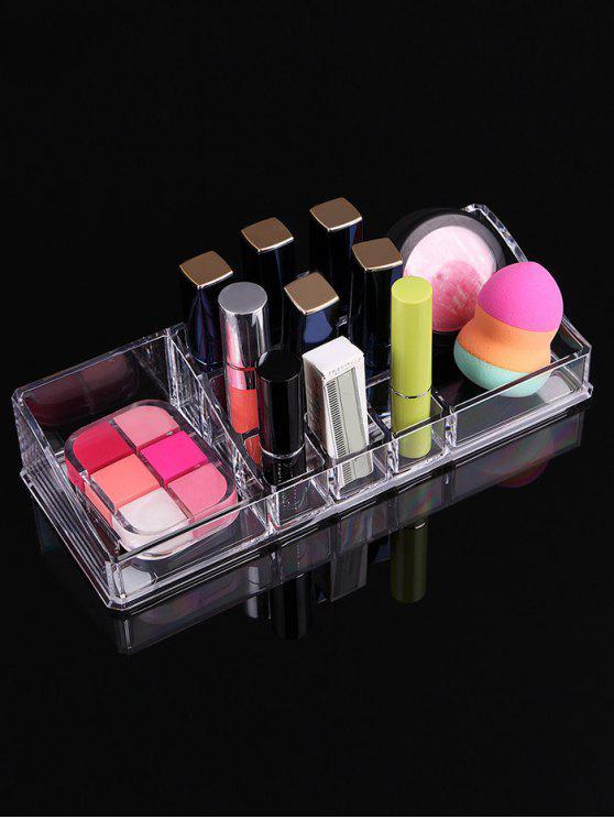 Caso della scatola di immagazzinaggio dei cosmetici trasparenti acrilici - Trasparente