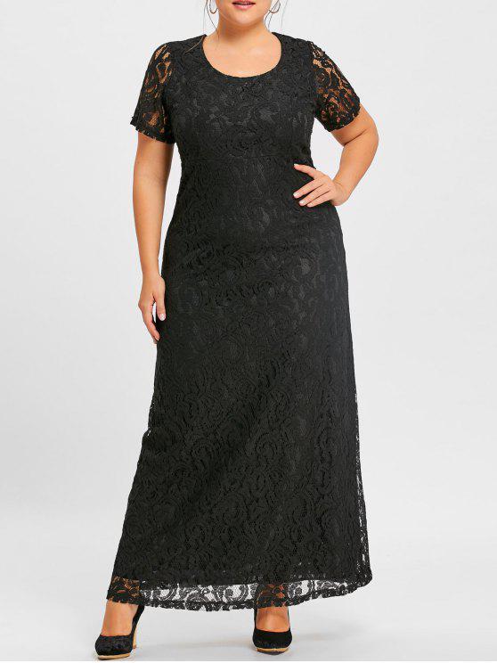 Plus Size Maxi Lace Gown Dress Black Plus Size Dresses 4xl Zaful