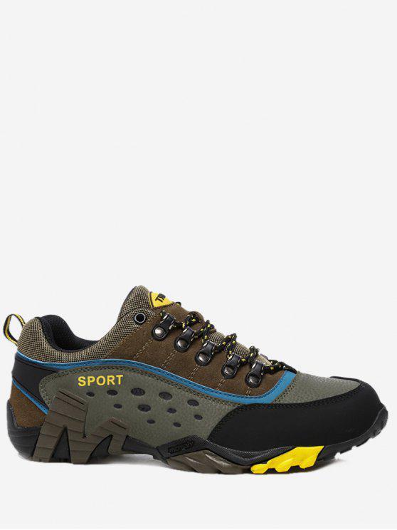 lady Antiskid Outdoor Casual Travel Hiking Athletic Shoes - KHAKI 39