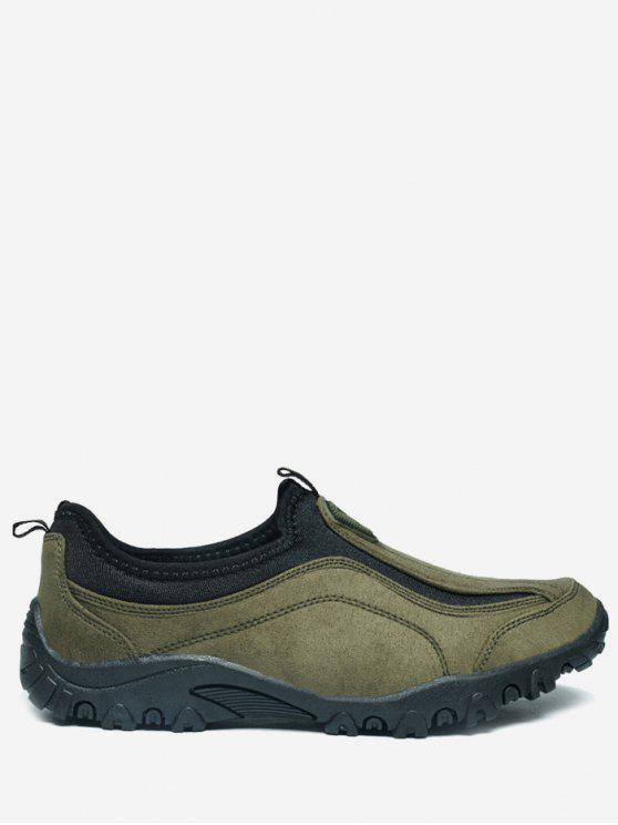latest Outdoor Jogging Casual Slip On Shoes - GREEN 45