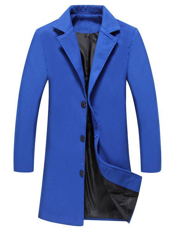وحيد الصدر لونغلاين معطف الصوف - ملكي 4XL