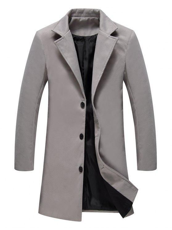 Manteau long en laine à boutonnage croisé