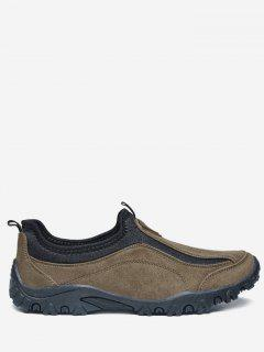 Outdoor Jogging Casual Slip On Shoes - Brown 40