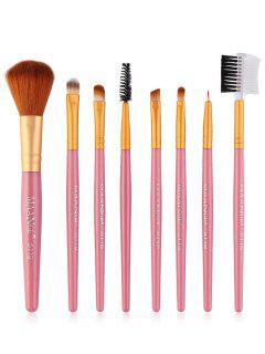 8Pcs Multifunctional Eye Makeup Brushes Set - Pink