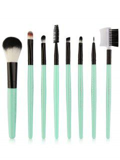 8Pcs Multifunctional Eye Makeup Brushes Set - Cyan And Black