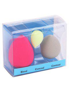 3Pcs Makeup Foundation Beauty Sponge Puff Set