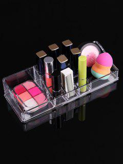 Acrylic Transparent Cosmetics Storage Box Case - Transparent