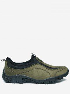 Outdoor Jogging Casual Slip On Shoes - Green 43