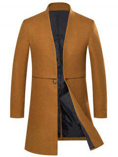 Manteau En Laine à Un Bouton Long  - Kaki 2xl