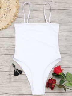 One-piece High Cut Swimsuit - White L