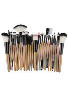 Conjunto De Cepillos De Maquillaje De Fibra De Alta Calidad 25pcs - Marrón