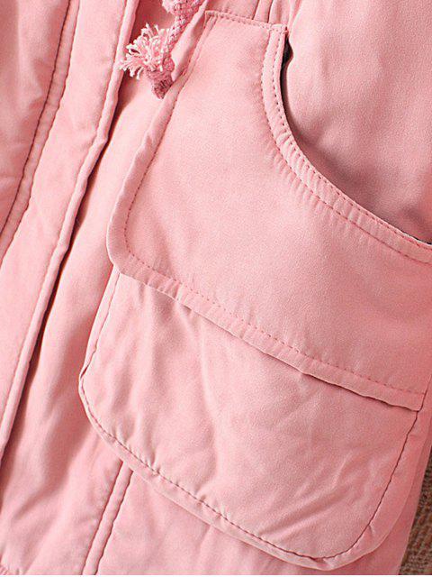 Manteau avec de la Fourrure - Rouge L Mobile