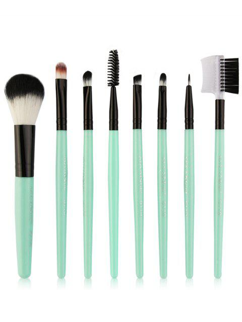 online 8Pcs Multifunctional Eye Makeup Brushes Set - CYAN AND BLACK  Mobile