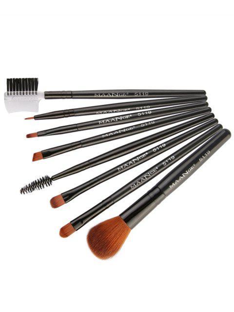 hot 8Pcs Multifunctional Eye Makeup Brushes Set - BLACK  Mobile