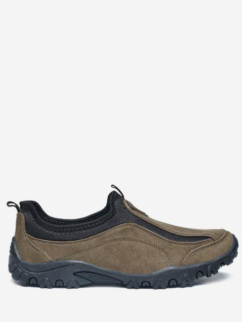 new Outdoor Jogging Casual Slip On Shoes - BROWN 39 Mobile
