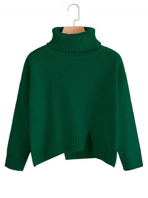 Jersey de cuello alto de talla grande extragrande - Verde Única Talla Mobile