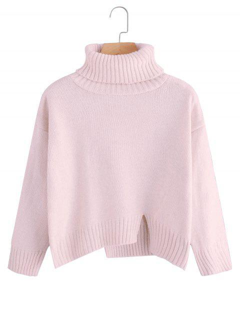 Jersey de cuello alto de talla grande extragrande - Rosa Única Talla Mobile