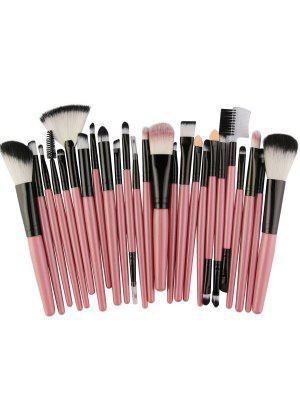 25 Pièces Collection de Pinceaux de Maquillage en Fibre de Haute Qualité