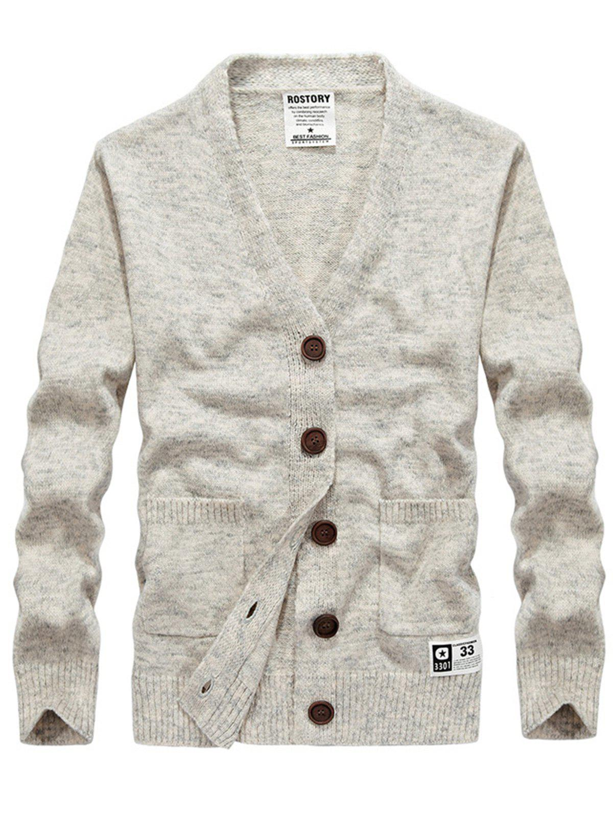 Two Pocket V Neck Cashmere Cardigan 235504802