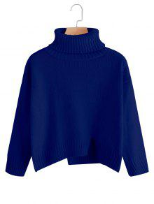 Jersey De Cuello Alto De Talla Grande Extragrande - Azul Zafiro