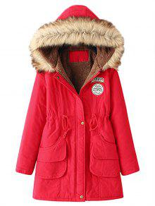 Zaful red parka