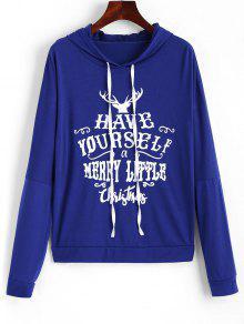 drawstring elk christmas hoodie - Christmas Hoodie