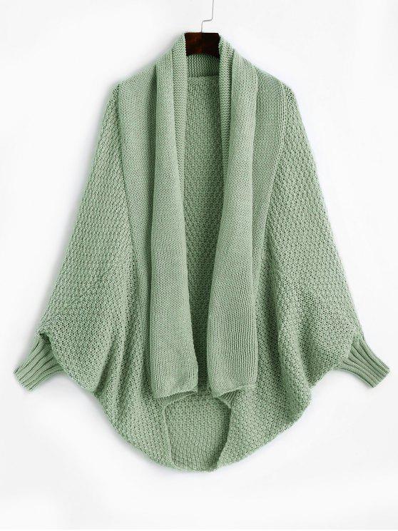 online Shawl Collar Dolman Sleeve Cardigan - LIGHT GREEN ONE SIZE