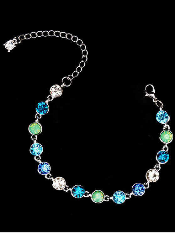 Strass-Kette-Armband - Silber
