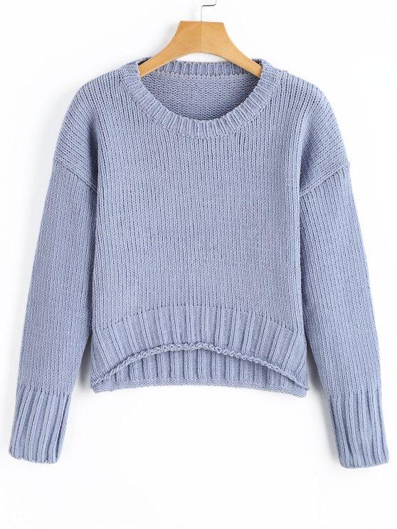 Geschnittener Drop Schulter Pullover - windig Eine Größe