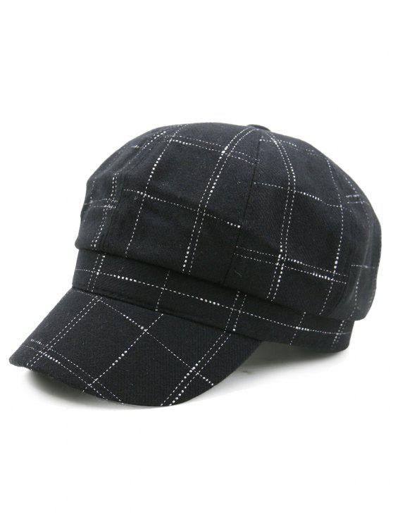 Sombrero De Vendedor De Periódicos Al Aire Libre Del Patrón Negro ...