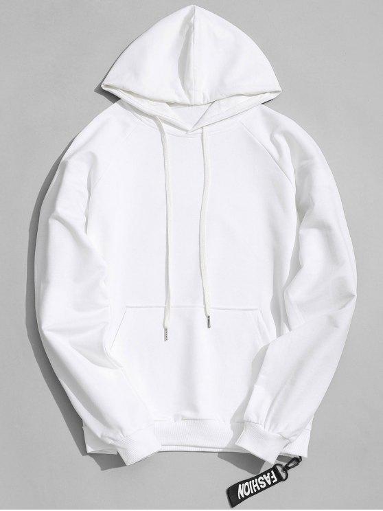 shop Side Zipper Hoodie - WHITE L