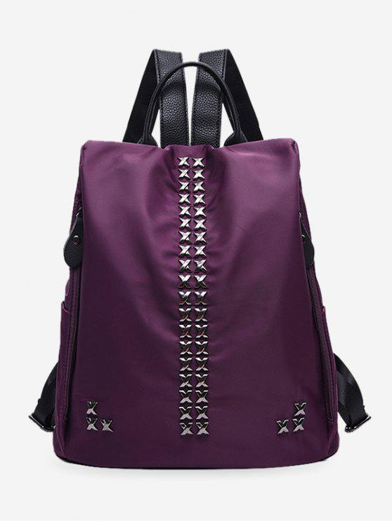 fancy Criss Cross Metal Backpack - PURPLE