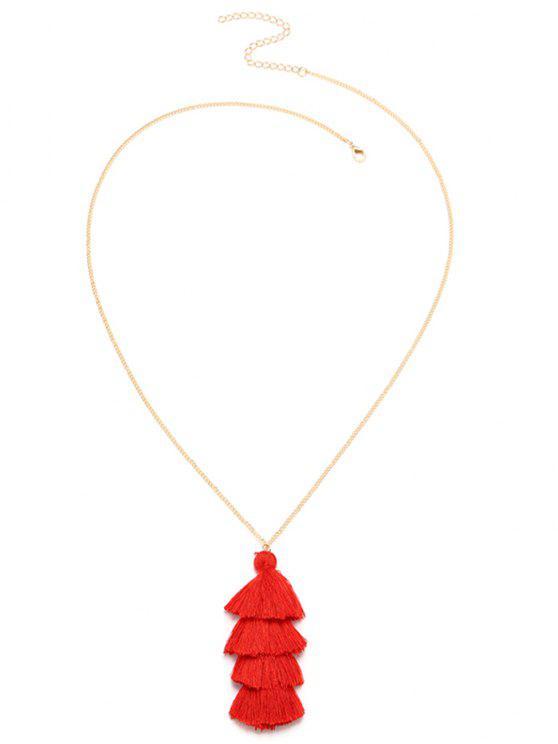 Collana di nappa stratificata della Boemia - Rosso