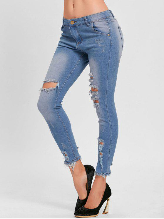 بنطلون جينز ضيق - أزرق S