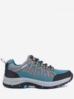 Casual Breathable Athletic Outdoor Hiking Shoes - Blue 45